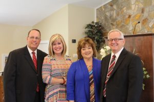 Pastor and Mrs. Judy with special guests, Debbie and Steve Morris.